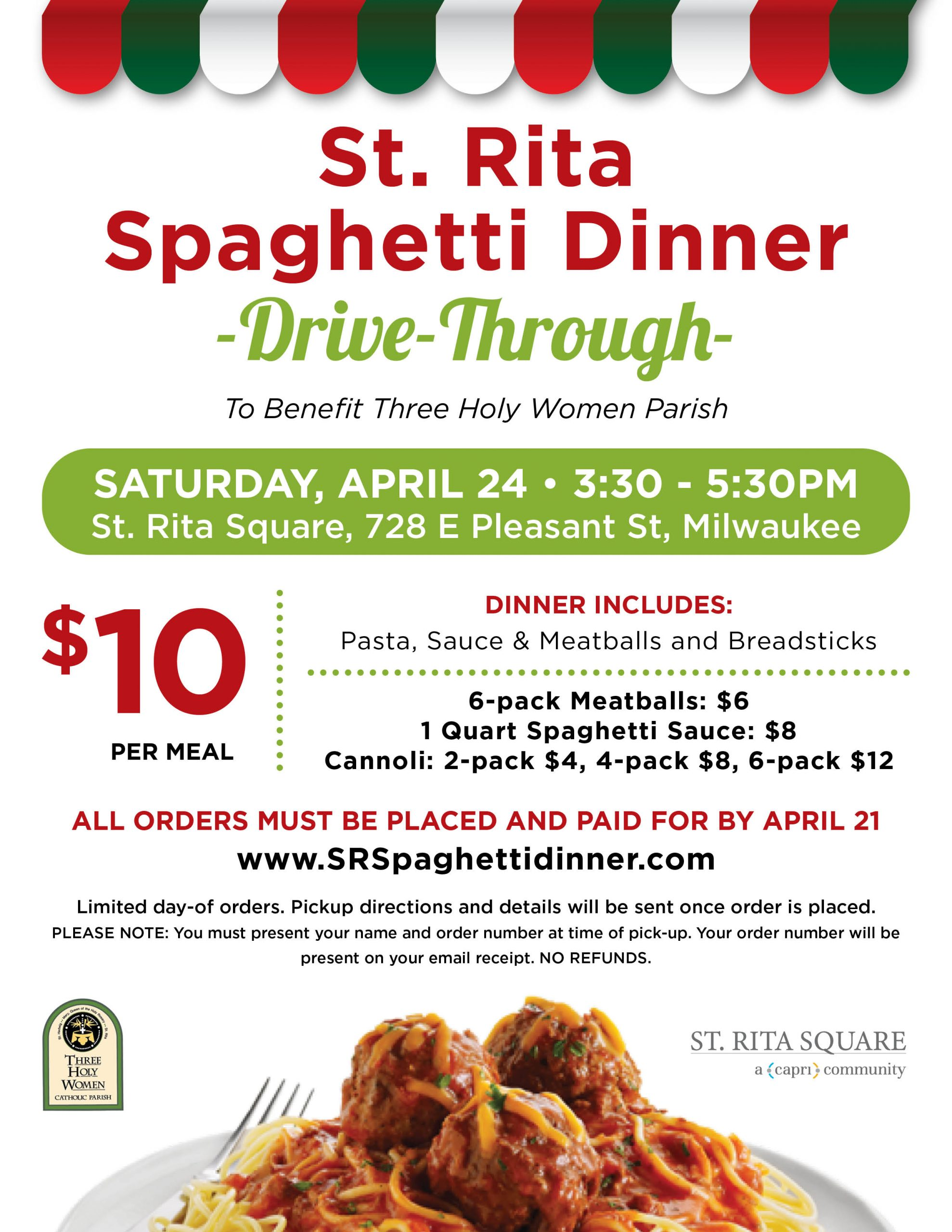 Spaghetti Dinner Drive-Through